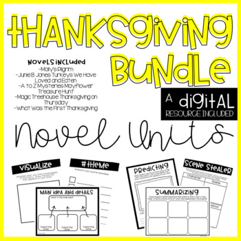 Thanksgiving Novel Units BUNDLE