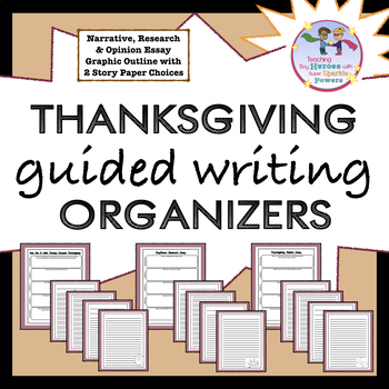 Thanksgiving Guided Writing Organizers