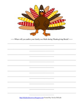 Thanksgiving Gumdrop Turkey Math Lesson
