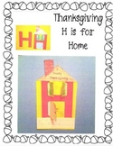 Thanksgiving H is for Home from Alphabet Art Upper Case