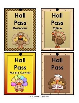 Thanksgiving Hall Passes