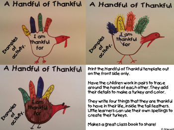 Thanksgiving Hand Turkey Handful of Thankful