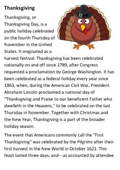 Thanksgiving Handout