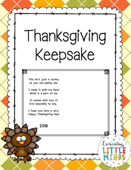 Thanksgiving Handprint Keepsake