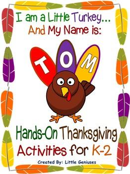 Kindergarten to Grade 2 ~ Thanksgiving Fun Activities