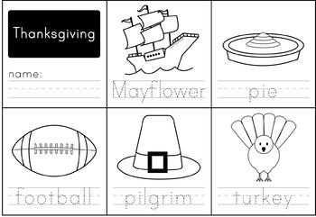 Thanksgiving Handwriting
