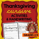 Thanksgiving Handwriting - Cursive Handwriting Practice - Cursive Thanksgiving