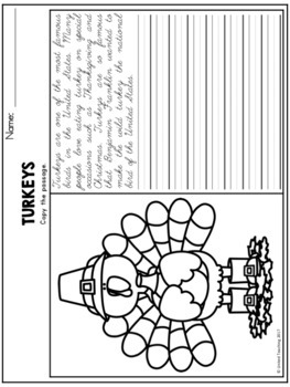 Thanksgiving Handwriting Lessons (Cursive Edition)
