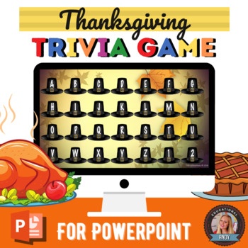 Thanksgiving Happy Harvest Trivia Game {EDITABLE}
