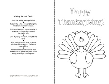 Thanksgiving Harvest Card to Grow