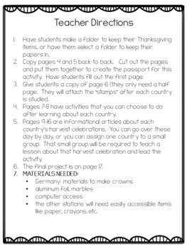 Thanksgiving- Harvest Celebrations Around the World