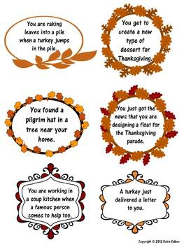 Thanksgiving Writing Prompts: Harvest Days and November Story Starters