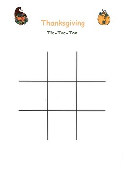 Thanksgiving Harvest Tic Tac Toe Game