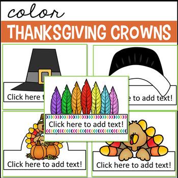 Thanksgiving Hats (Editable)