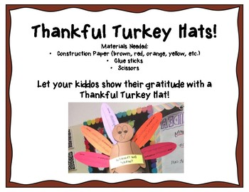 Thanksgiving Hats: Thankful Turkey Hats!