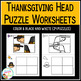 Cut and Paste Fine Motor Puzzles: Thanksgiving Heads