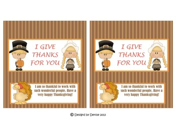 Thanksgiving Hershey Bar Wrappers