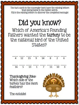 Thanksgiving History Activity