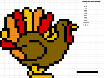 Thanksgiving Hidden Pixel Art