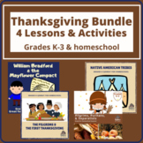 Thanksgiving History BUNDLE of 4 Lessons for Grades K-3 an