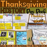 Thanksgiving History Bag Book/Interactive Notebook Kit