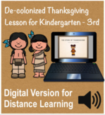 Thanksgiving History Social Studies DIGITAL Lesson and Activity