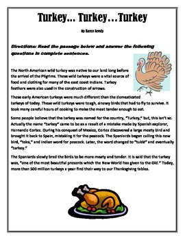 Thanksgiving - History of the turkey