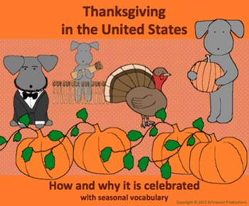 Thanksgiving History with English Vocabulary with Pepper