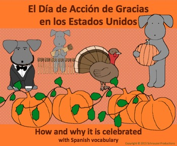 Thanksgiving History with Spanish Vocabulary with Pepper