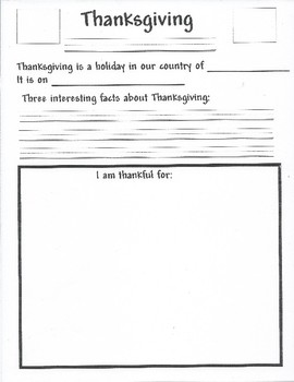 Thanksgiving Holdiay Activity