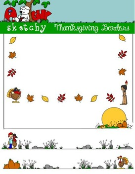 Thanksgiving Holiday Borders / Frames