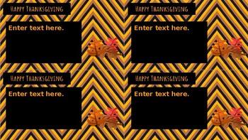 Thanksgiving Holiday-Grams