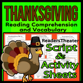 Thanksgiving Readers Theater Holiday Script Reading & Activity Packet