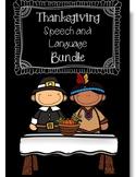 Fall/Thanksgiving Holiday Speech and Language Bundle (No Prep/Low Prep)