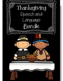 Fall/Thanksgiving Holiday Speech and Language Bundle (No P