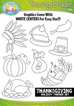 Thanksgiving Tracing Image Clipart {Zip-A-Dee-Doo-Dah Designs}