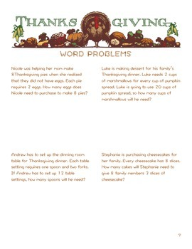 Thanksgiving Homework