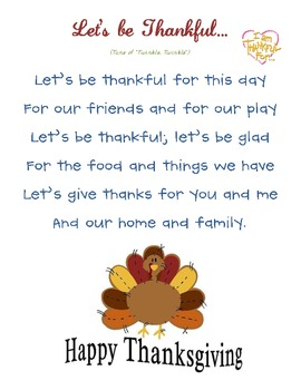 Thanksgiving Homework & Song Posters