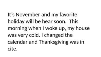 Thanksgiving Homophones Power Point