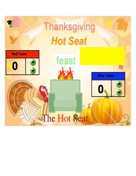 Thanksgiving Hot Seat flipchart
