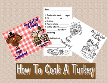 Thanksgiving How We Cook A Turkey Writing Prompt