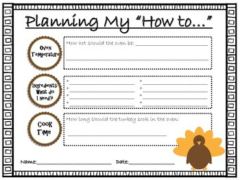 """Thanksgiving """"How to...""""  Writing Project"""