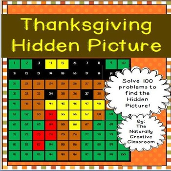 Thanksgiving Hundred Chart Hidden Picture