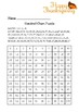Thanksgiving - Hundred Chart Hidden Pictures Puzzles