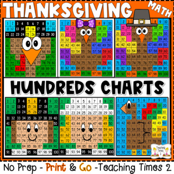 Thanksgiving Hundreds Chart Hidden Picture By Teaching Times   Tpt