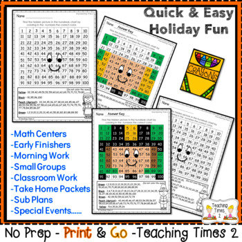 Thanksgiving Hundreds Charts | MATH CENTERS | MATH REVIEW