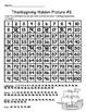 Thanksgiving Hundreds Chart Hidden Picture Packet
