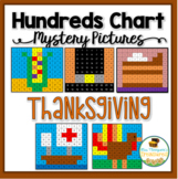 Thanksgiving Math - Hundreds Chart Mystery Pictures