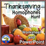 Thanksgiving Homophones Hunt - Find the Homophones in a Thanksgiving Story