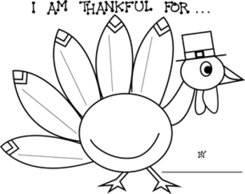 thanksgiving i am thankful for turkey printable worksheets. Black Bedroom Furniture Sets. Home Design Ideas
